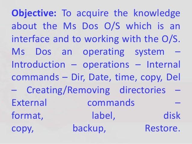 internal and external dos commands pdf