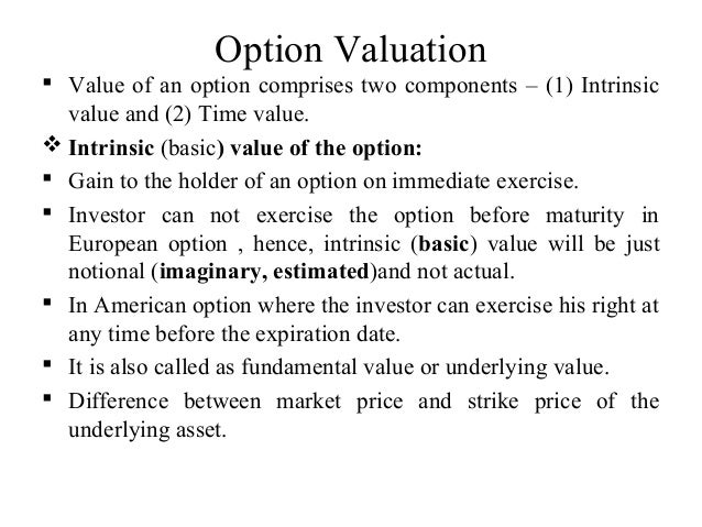 Valuation of put option writer