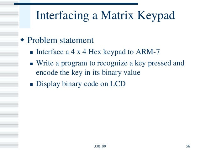 Unit III ARM Interface and ARM Programming