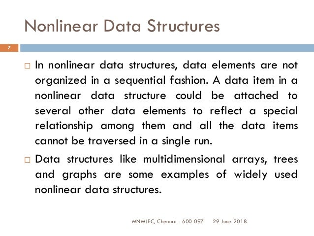 UNIT III NON LINEAR DATA STRUCTURES – TREES