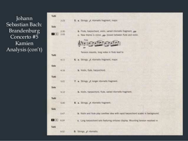 brandenburg concerto no 5 analysis 453 hàng find composition details, parts / movement information and albums that contain performances of brandenburg concerto no 5 in d on allmusic.