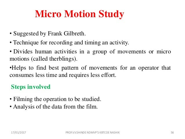 Advantages of micro motion study