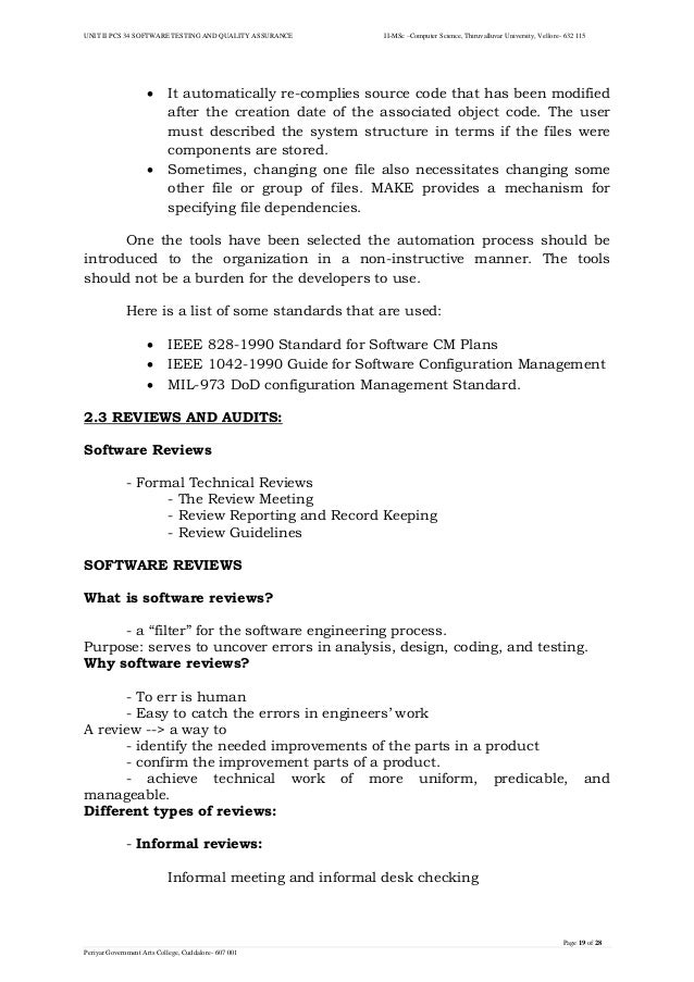 Unit Ii Software Testing And Quality Assurance