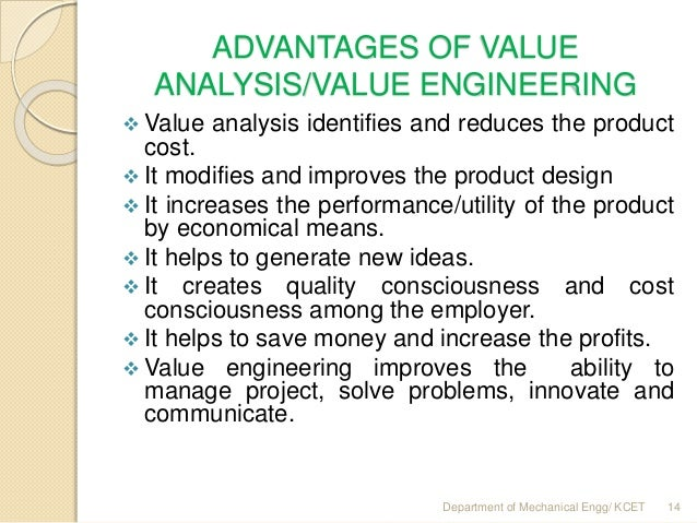 Mg 6863 Engg Economics Unit Ii Value Engineering