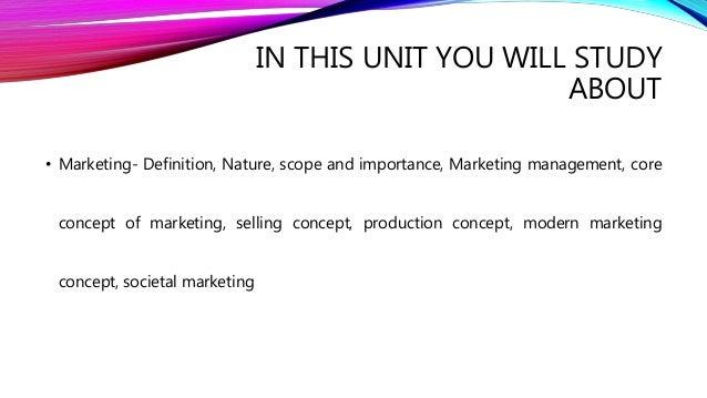 Unit I Marketing Management