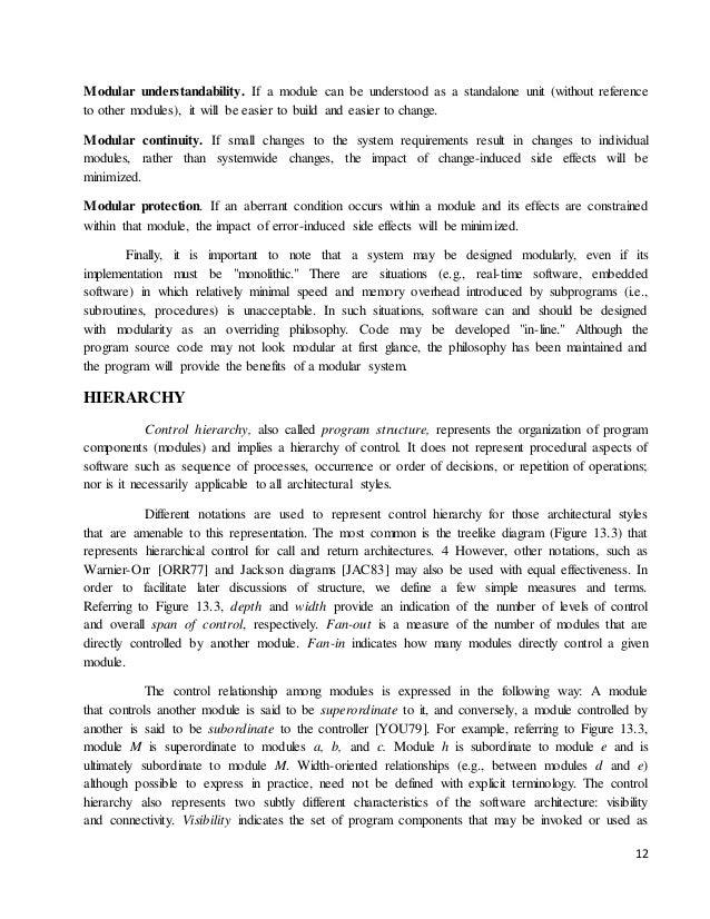 unit i software design principles  11 12