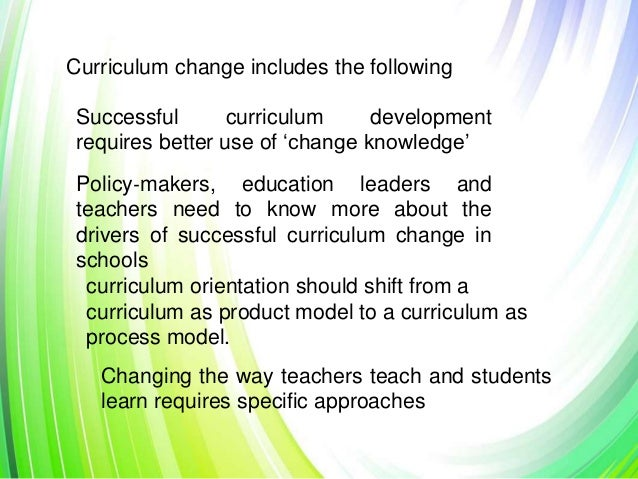 curriculum change The guide is based on an international review and three uk case studies of work  towards curriculum change this review complements the higher education.
