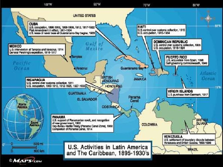 America As A World Power Unit Notes - Us territorial influence 1914 map labeled