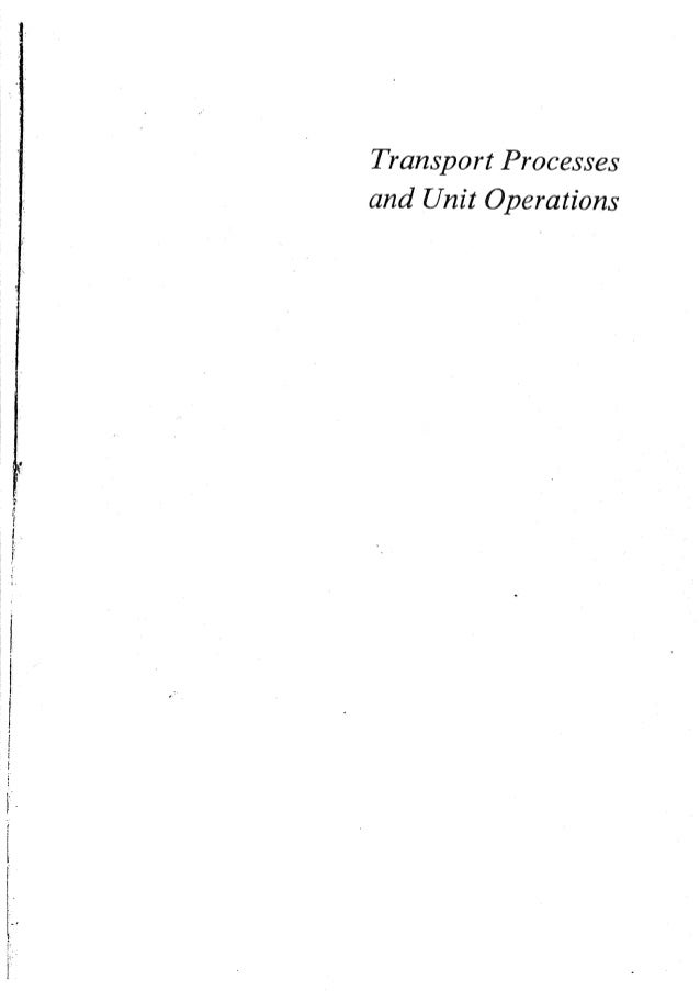 Transport processes and unit operations geankoplis