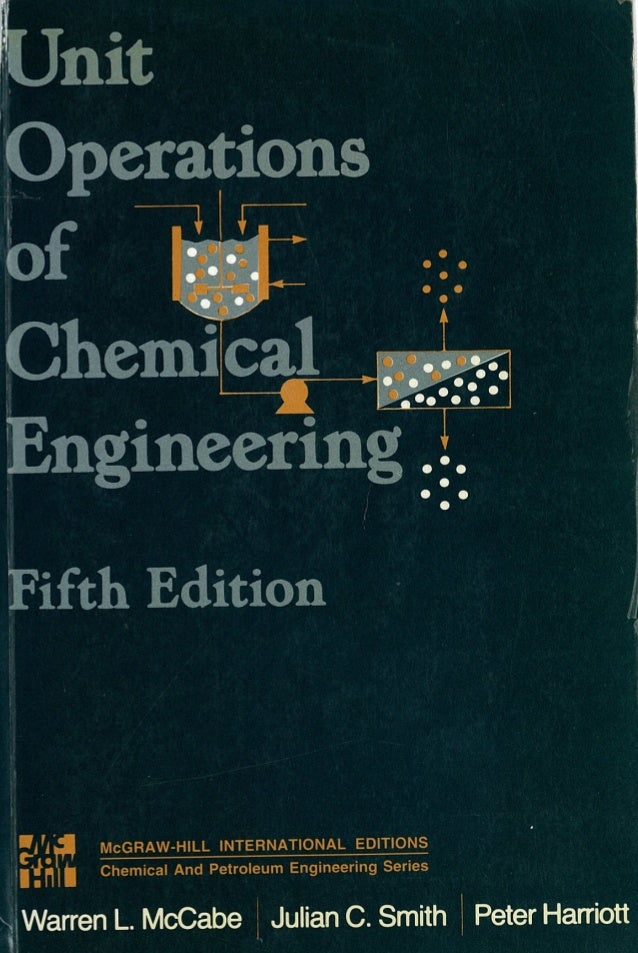 Unit operations of chemical engineering, 5th edition