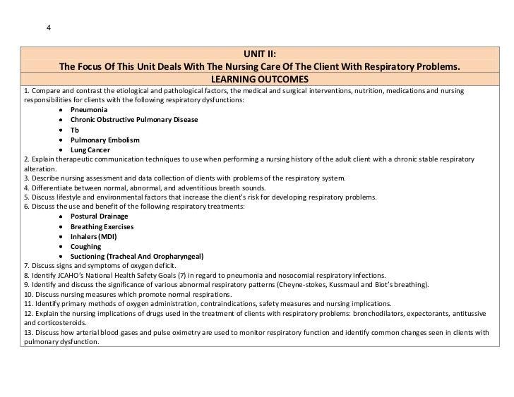 4                                                     UNIT II:           The Focus Of This Unit Deals With The Nursing Car...
