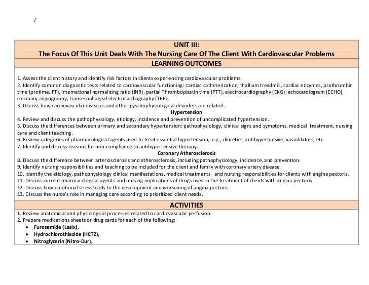 7                                                      UNIT III:           The Focus Of This Unit Deals With The Nursing C...