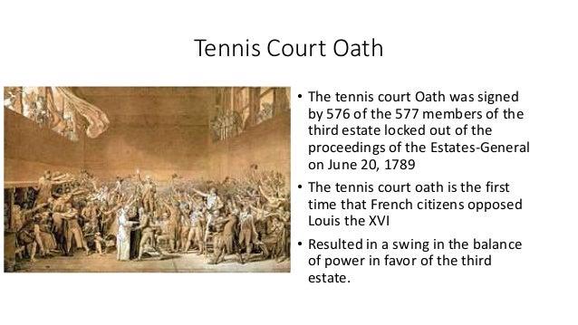 write a short note on tennis court oath