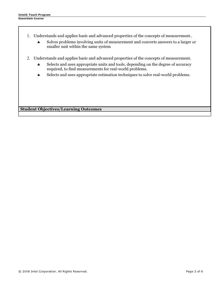 Unit plan measurement Slide 2