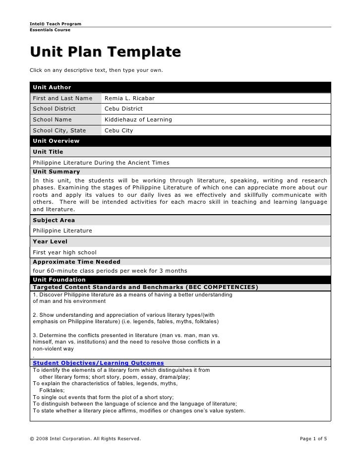 Unit plan template unit plan template intel teach programessentials courseunit plan templateclick on any descriptive text then type your own maxwellsz