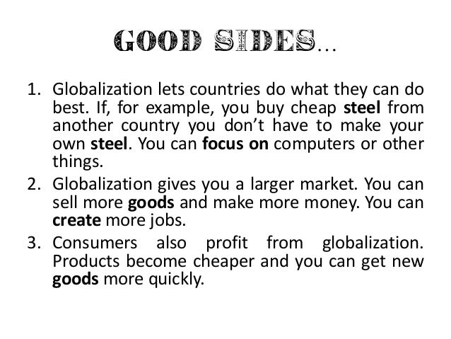 Aspects of globalization essay
