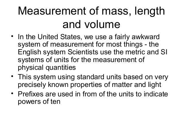 Units of measurement Slide 2
