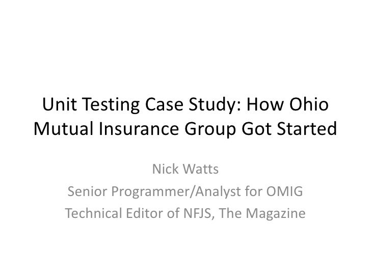 Nick Watts  Senior Programmer/Analyst for OMIG Technical Editor of NFJS, The Magazine