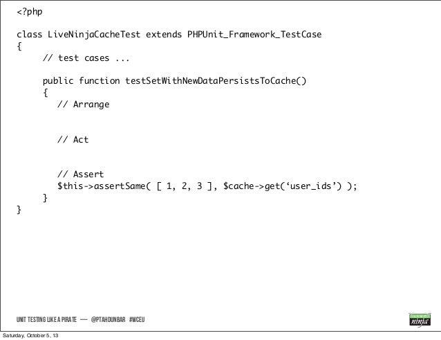 <?php class LiveNinjaCacheTest extends PHPUnit_Framework_TestCase { // test cases ... public function testSetWithNewDataPe...