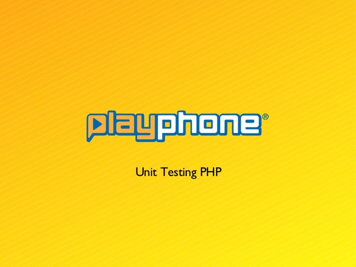 Unit Testing PHP