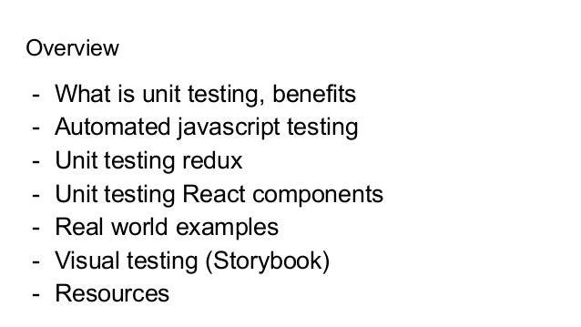 Unit Testing React & Redux