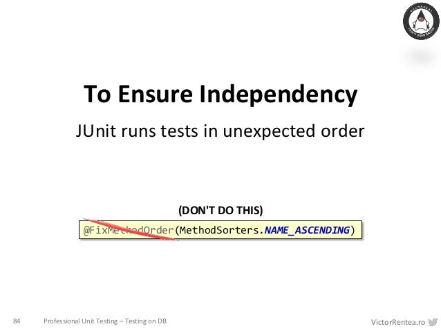 Unit Testing like a Pro - The Circle of Purity