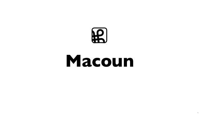 Macoun ⌘ 1