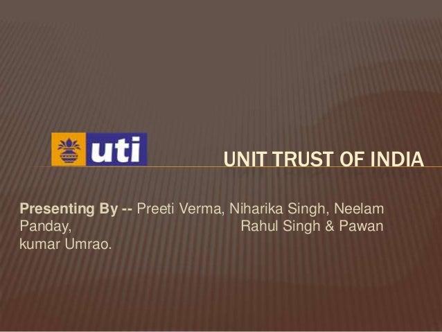 Unit trust of india Slide 2