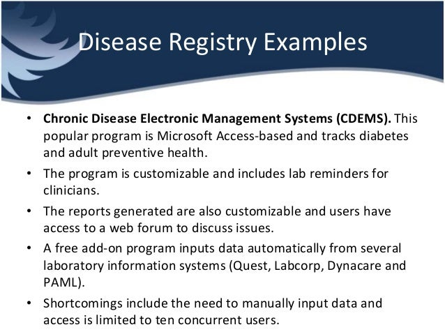 List of Registries | National Institutes of Health (NIH)