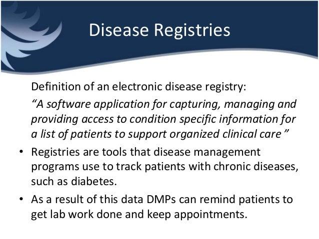 Disease Management and Disease Registries