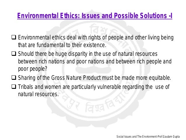 environmental ethics issues and possible solutions pdf
