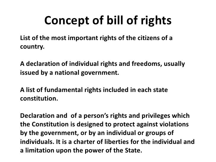why is the bill of rights important today