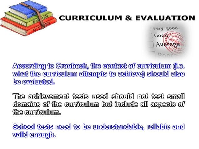 methods of curriculum evaluation
