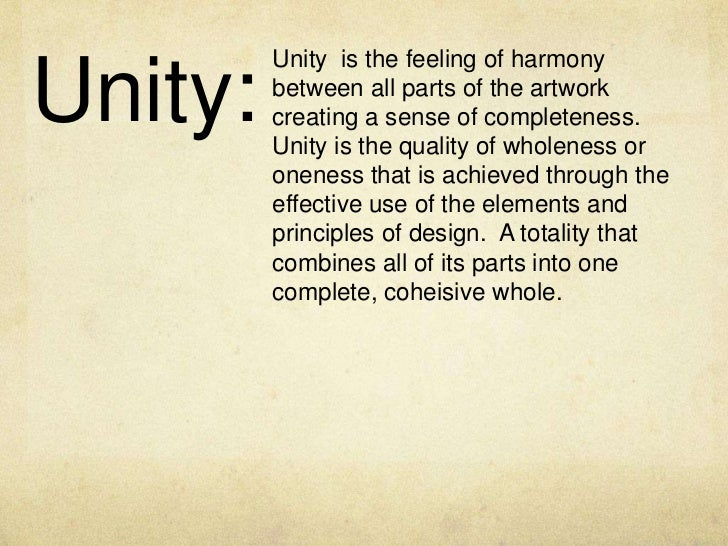Power of unity essay