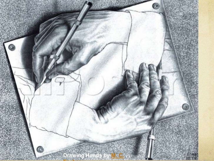 drawing hands by m c escher