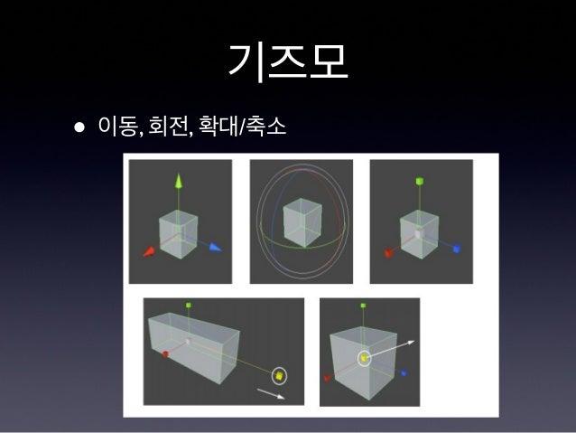 기즈모 • 이동, 회전, 확대/축소