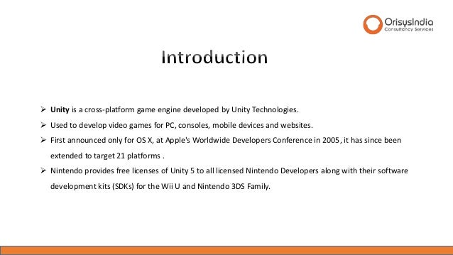 The Basics of Unity - The Game Engine