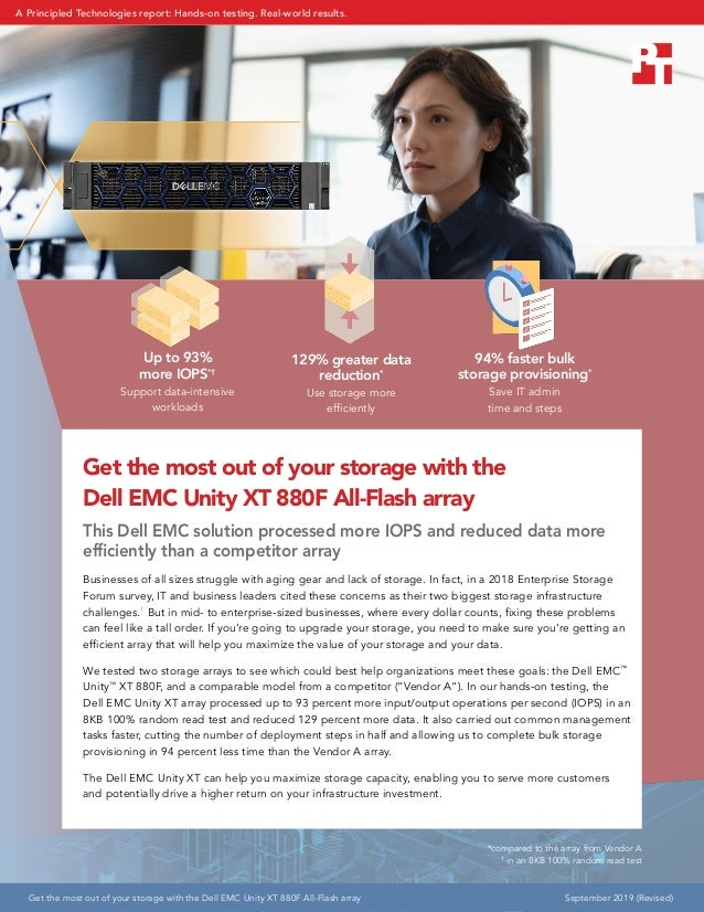 Up to 93% more IOPS*† Support data-intensive workloads 129% greater data reduction* Use storage more efficiently 94% faste...