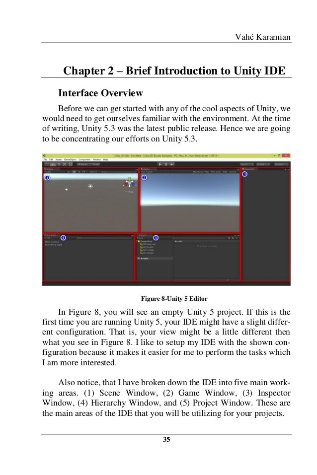 Vahé Karamian 35 Chapter 2 – Brief Introduction to Unity IDE Interface Overview Before we can get started with any of the ...