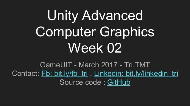 Unity advanced computer graphics week 02