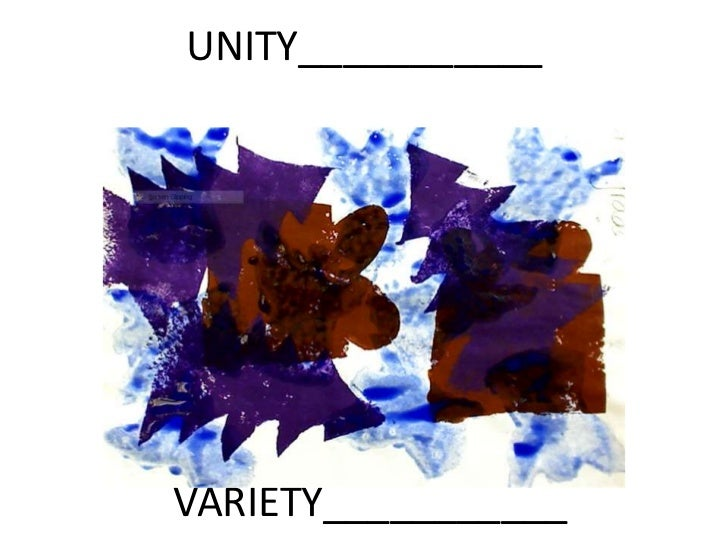 Unity and variety