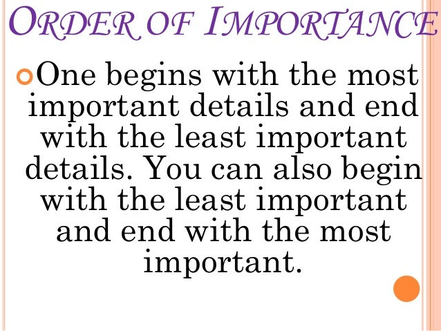 Example Paragraph Using Order Of Importance Essay - image 2