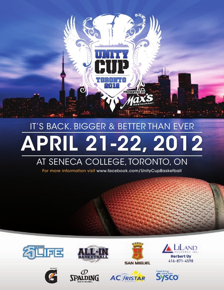 It's Back. BIgger & Better than everApril 21-22, 2012 at seneca college, toronto, on  For more information visit www.faceb...