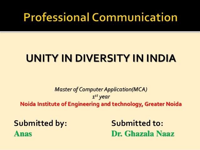 Unity in Diversity in India Slide 2