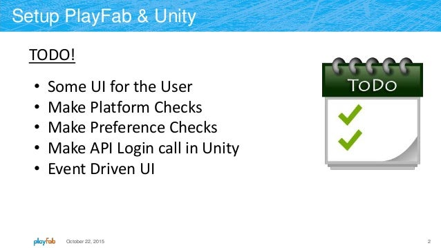 Getting Started with Unity and PlayFab: Unity Player Login