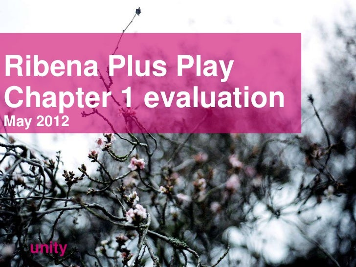 Ribena Plus PlayChapter 1 evaluationMay 2012   unity