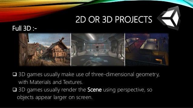 Unity 3D game engine seminar