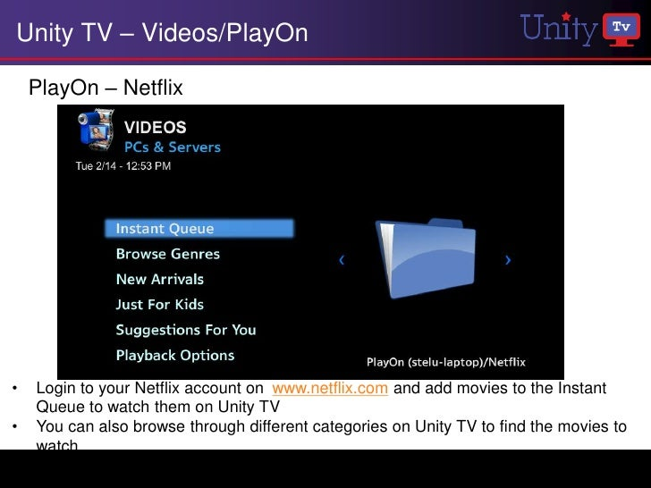 Unity TV Menus and Features