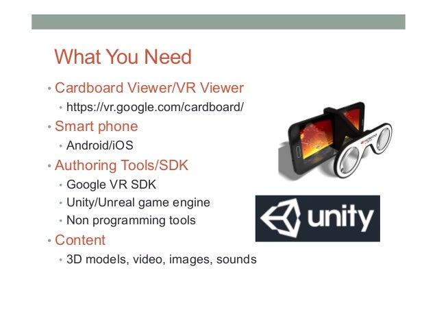 Building VR Applications For Google Cardboard