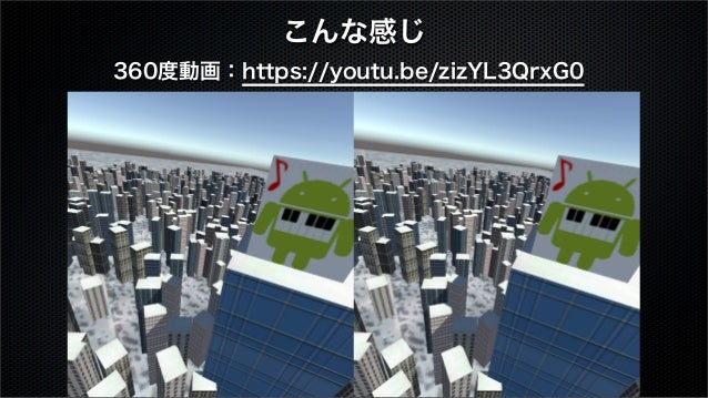 こんな感じ 360度動画:https://youtu.be/zizYL3QrxG0